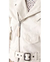 Club Monaco - Natural Christy Motorcycle Jacket - Lyst