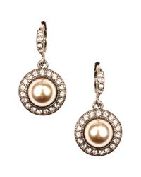 Givenchy - Natural Blush Glass Pearl and Glass Drop Earrings - Lyst