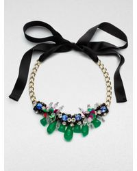 Marni - White Multicolored Cluster Chain Link Necklace - Lyst