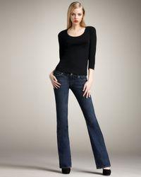PAIGE | Blue Laurel Canyon Venom Boot-cut Jeans | Lyst