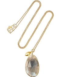 Pippa Small | Metallic 18karat Gold Labradorite Necklace | Lyst