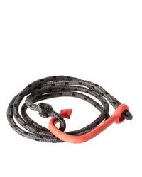 ASOS - Gray Asos Hook Bracelet for Men - Lyst