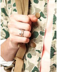 ASOS - Metallic Wood and Metal Ring for Men - Lyst