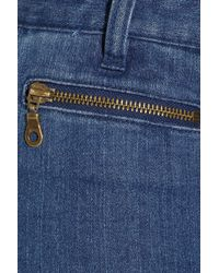 Lover - Blue High-rise Wide-leg Jeans - Lyst