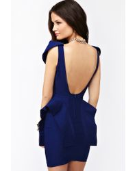 Nasty Gal | Blue Victoria Peplum Dress Cobalt | Lyst