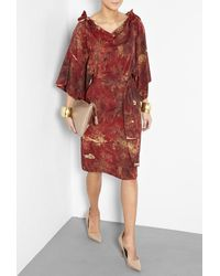 Vivienne Westwood Anglomania | Red Printed Cavalry Dress | Lyst