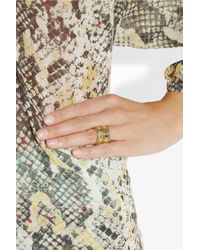 Aurelie Bidermann | Metallic Mendoza Goldplated Enameled Ring | Lyst