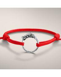 John Hardy | Dragon Station Bracelet On Adjustable Red Cotton Cord for Men | Lyst