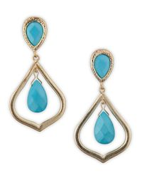 Kendra Scott | Blue Oval Teardrop Earrings Turquoise | Lyst