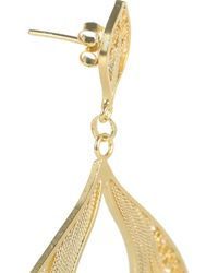 Mallarino - Metallic Claudia 24karat Goldvermeil Earrings - Lyst