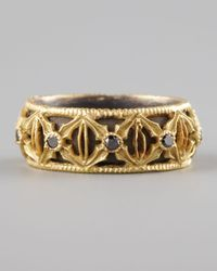 Armenta | Metallic Wide Diamond Band Ring | Lyst