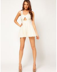 ASOS Collection - Black Playsuit with Cut Out - Lyst