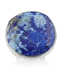 Chan Luu | Blue Oversized Silver Lapis Ring | Lyst