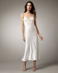 La Perla - White Maison Long Satin Gown - Lyst