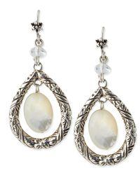 Stephen Dweck - Metallic Mother -Of- Pearl Oval Drop Earrings - Lyst