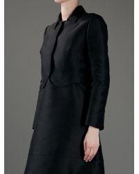 Valentino | Black Cropped Jacket | Lyst