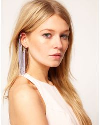 ASOS | Metallic Multi Chain Ear Cuff | Lyst