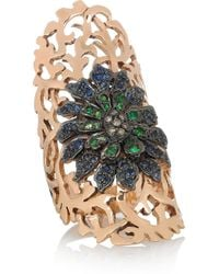 Ileana Makri   Pink Shield 18-Karat Rose Gold Multi-Stone Ring   Lyst