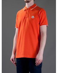 fc249f08db31 Moncler Polo Shirt in Orange for Men - Lyst