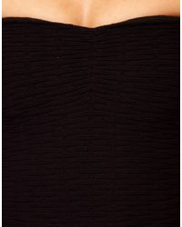 River Island - Black River Island Textured Bandeau Dress - Lyst