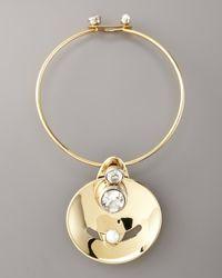Lanvin | Metallic Golden Mobile Necklace | Lyst