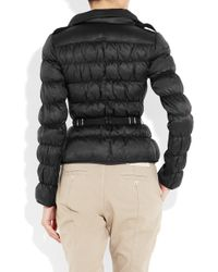 Burberry | Black Belted Hooded Padded Shell Jacket | Lyst