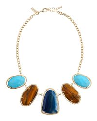Kendra Scott | Metallic Parasol Five-Stone Necklace | Lyst