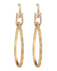 Paige Novick | Metallic Teardrop Hoop Pave Earrings | Lyst