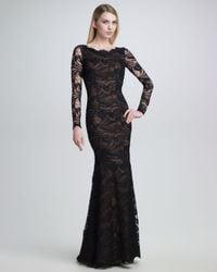 Emilio Pucci | Black Openback Lace Gown | Lyst