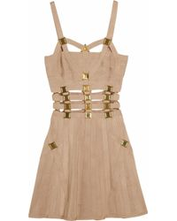 Hervé Léger | Brown Embellished Bandage Dress | Lyst