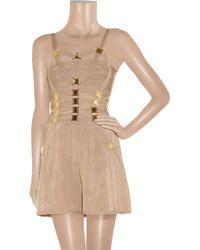Hervé Léger | Brown Embellished Bandage Dress | Lyst
