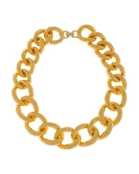 Kenneth Jay Lane - Metallic 22karat Goldplated Oversized Chain Necklace - Lyst