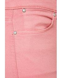 TOPSHOP | Moto Pink Glitter Leigh Jean | Lyst