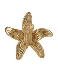 Saint Laurent - Metallic Starfish Earring - Lyst