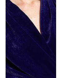 Lanvin | Purple Faux Wrap Velvet Gown | Lyst