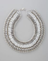 Panacea - Metallic Choker Necklace - Lyst