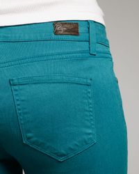 PAIGE | Green Verdugo Teal Jeggings | Lyst