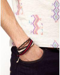 River Island - Brown River Island Bracelet Pack for Men - Lyst