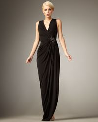 Robert Rodriguez | Black Chloe Draped Jersey Gown | Lyst