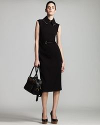Stella McCartney | Black Colorblock Dress | Lyst