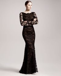 Emilio Pucci - Black Openback Lace Gown - Lyst