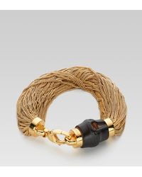 Gucci - Natural Bamboo Bracelet - Lyst