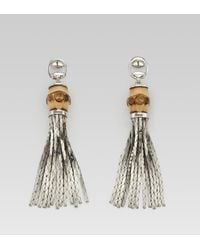 Gucci | Natural Bamboo Earrings | Lyst