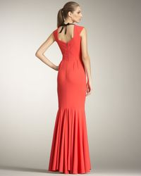 Roland Mouret | Red Frances Fishtail Gown | Lyst