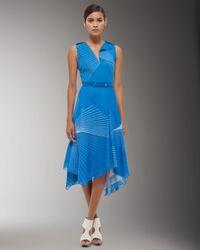 Akris - Blue Mikado Asymmetric Dress - Lyst