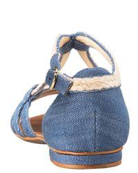 Alexandre Birman - Blue Denim/rope Flat Sandal - Lyst