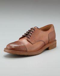 Brunello Cucinelli - Brown Cap-toe Lace-up for Men - Lyst