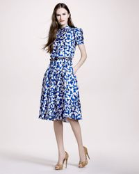 Carolina Herrera - Blue Gasparprint Shirtdress - Lyst