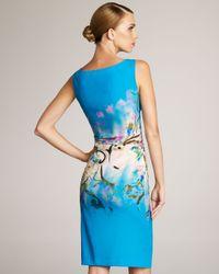 Etro | Blue Ombre-print Dress | Lyst