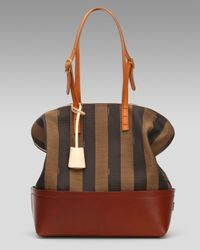 Fendi   Black Pequin Stripe 2bag   Lyst